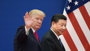 Les présidents américain Donald Trump et chinois Xi Jinping, lors d'une rencontre à Pékin le 9 novembre 2017