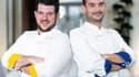 Les deux finalistes de  Top Chef, Guillaume (à gauche) et Samuel (à droite).