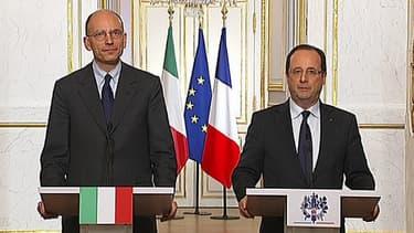 François Holland et Enrico Letta