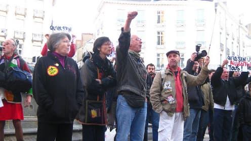 A Nantes, manifestation des opposants au transfert de l'aéroport.