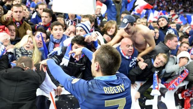 Frank Ribéry et les supporters tricolores