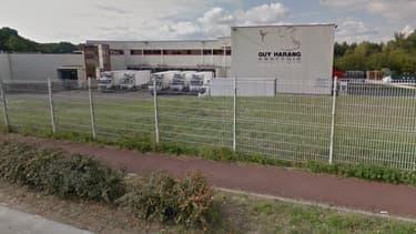 L'abattoir des Yvelines où les militants de L214 ont été interpellés.