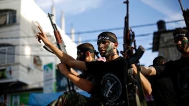 De jeunes membres de l'Armée populaire du Hamas, en novembre 2014, à Gaza. (photo d'illustration)