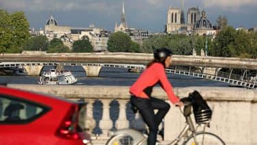Vélo à Paris (illustration)