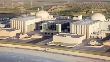 Maquette du futur complexe nucléaire d'Hinkley Point au Royaume-Uni. (photo d'illustration)