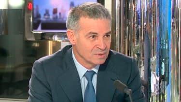 Patrick Bernasconi, ici sur le plateau de BFM Business, a rendez-vous avec son concurrent à la présidence du Medef Geoffroy Roux de Bézieux.