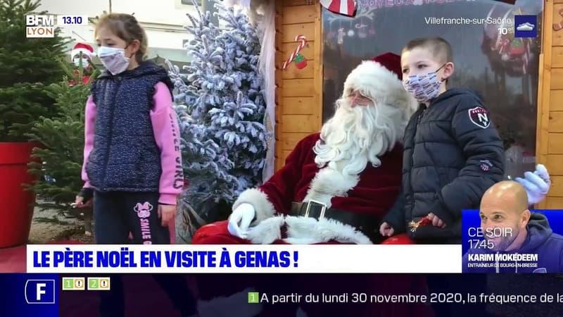 Marché de Noël à Genas: la visite surprise du Père Noël pour les enfants