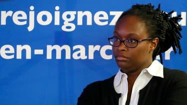 Sibeth Ndiaye, responsable des relations avec la presse de la campagne d'Emmanuel Macron.