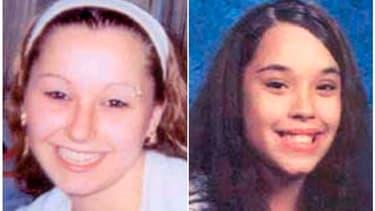 Amanda Marie Berry (à gauche) et Georgina Lynn DeJesus, deux des trois jeunes femmes portées disparues depuis une dizaine d'années aux Etats-Unis.