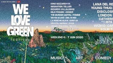 L'affiche de We Love Green 2020