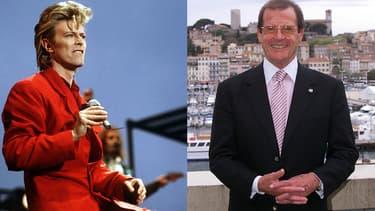 David Bowie et Roger Moore