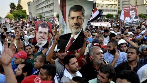 Les partisans de Mohamed Morsi