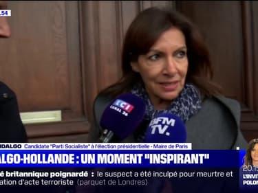 """Entre Hidalgo et Hollande, les échanges sont """"toujours très inspirants et nécessaires"""" pour la candidate PS"""
