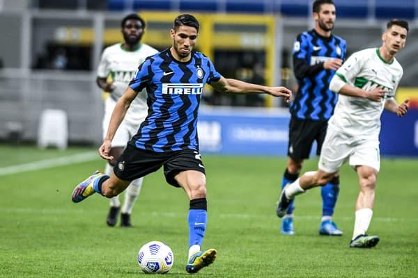 Achraf Hakimi avec l'Inter Milan