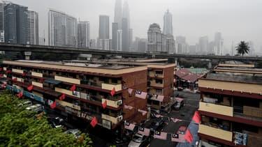 La ligne de grattes-ciel emblématique de Kuala Lumpur, en Indonésie, où la secousse a été ressentie.