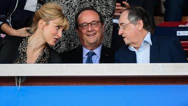 Julie Gayet en tribunes lors d'un match de la Coupe du monde féminine en 2019