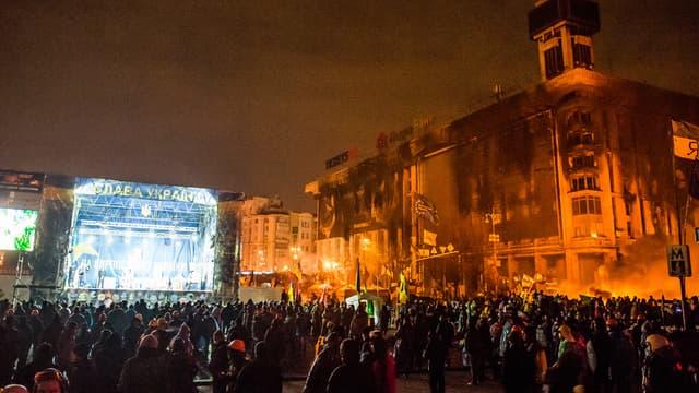 La place Maïdan de Kiev, le 20 février.