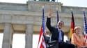 Barack Obama et Angela Merkel ce 19 juin à l'occasion de la première visite d'Obama en tant que président américain.