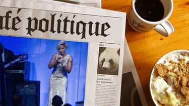 """La chanteuse Mary J. Blige a chanté """"Ne me quitte pas"""" en français devant François Hollande et Barack Obama."""