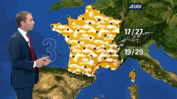 Prévisions météo du jeudi