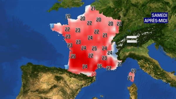 Les prévisions météorologiques pour le samedi 29 mai 2021.