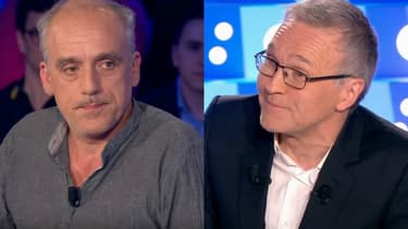 """Philippe Poutou sur le plateau de l'émission """"On n'est pas couché"""", présentée par Laurent Ruquier"""