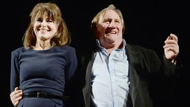 Fanny Ardant au côté de Gérard Depardieu en octobre 2015