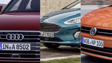 """Audi, Ford et Volkswagen sont les trois marques récompensées lors de cette 4e édition du Prix """"Voiture Connectée de l'Année"""" de 01net."""