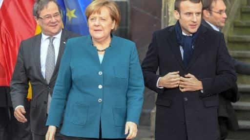 Emmanuel Macron et Angela Merkel - Image d'illustration