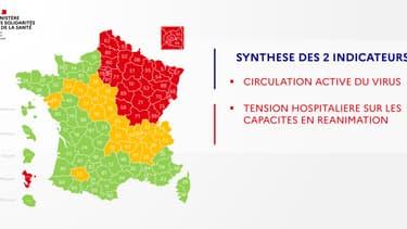 La carte de synthèse de la France