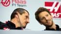 Günther Steiner et Romain Grosjean