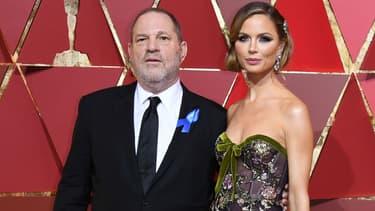 Harvey Weinstein et Georgina Chapman lors de la cérémonie des Oscars en 2017