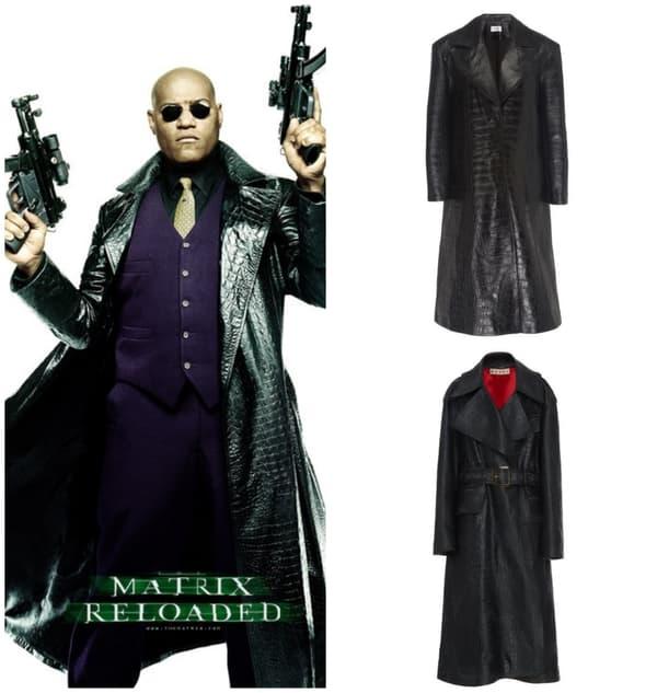Morpheus dans Matrix - Manteau 16Alington (en haut) - Manteau Marni (en bas)