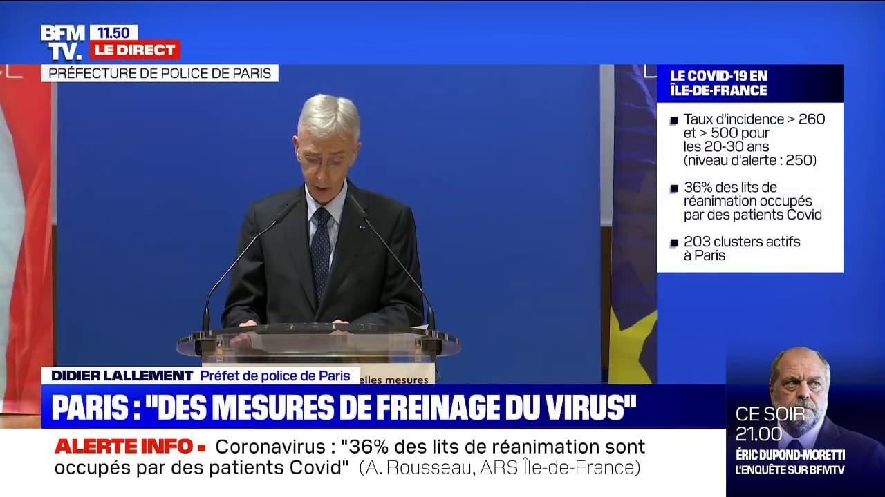 Covid A Paris Le Prefet De Police Annonce La Fermeture Des Bars A Compter De Demain Les Restaurants Peuvent Rester Ouverts Sous Conditions