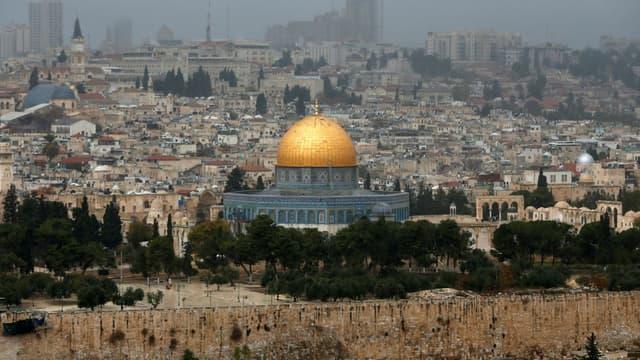 La vieille ville de Jérusalem le 6 décembre 2017.