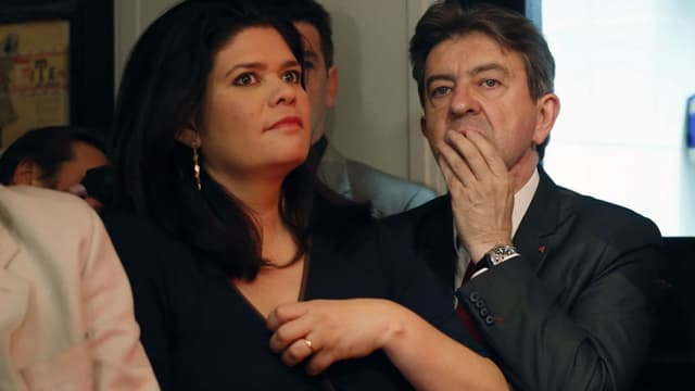 Raquel Garrido et Jean-Luc Mélenchon.