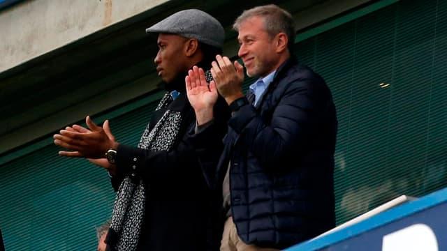 Didier Drogba et Roman Abramovitch