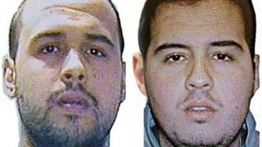 Montage de deux photos d'archives fourni le 23 mars 2016 par Interpol de Khalid et Ibrahim El Bakraoui