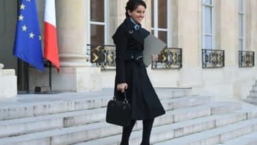 La ministre de l'Education nationale, Najat Vallaud-Belkacem, le 20 janvier 2016 à l'Elysée, à Paris
