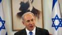 Le Premier ministre israélien Benjamin Netanyahu. Israël a bombardé la Syrie pour la deuxième fois en 48 heures, menant à l'aube une série de frappes aériennes sur Damas pour empêcher la livraison au Hezbollah, le puissant mouvement chiite libanais, de mi