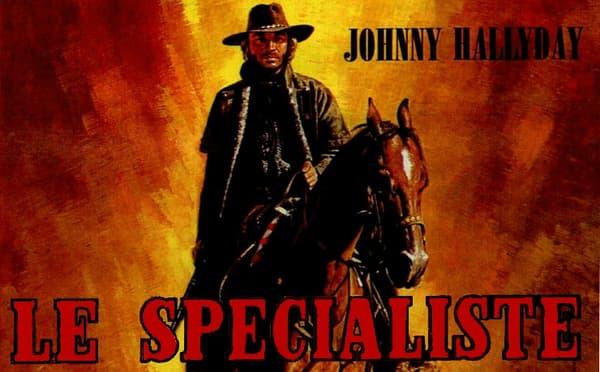 """L'affiche du film """"Le spécialiste"""" avec Johnny Hallyday, en 1970."""