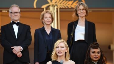Thierry Fremaux, Frédérique Bredin, Françoise Nyssen et Cate Blanchett lors du festival de Cannes