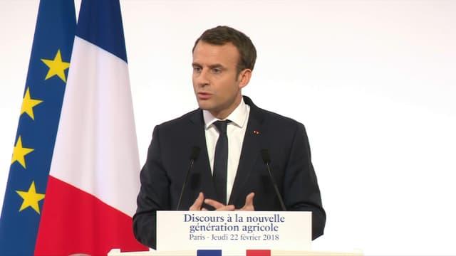 Emmanuel Macron avait convié plusieurs centaines de jeunes agriculteurs à l'Élysée.