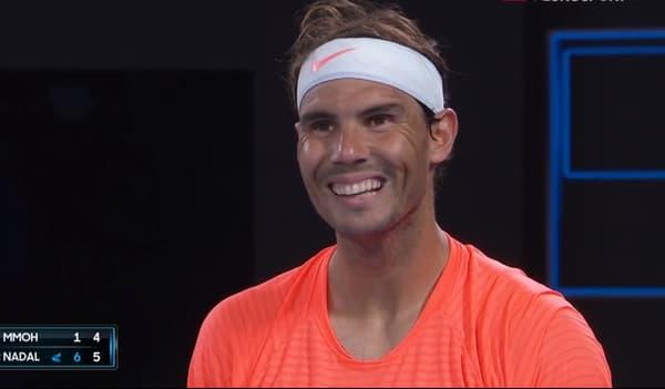 Rafael Nadal stupéfait par l'attitude d'une spectatrice
