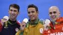 Michael Phelps, Chad Le Clos et Laszlo Cseh