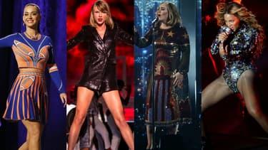 Katy Perry, Taylor Swift, Adele et Beyoncé font partie des chanteuses les mieux payées au monde 2016