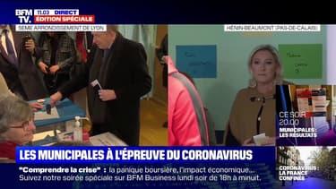Municipales: Gérard Collomb a voté à Lyon, Marine Le Pen à Hénin-Beaumont