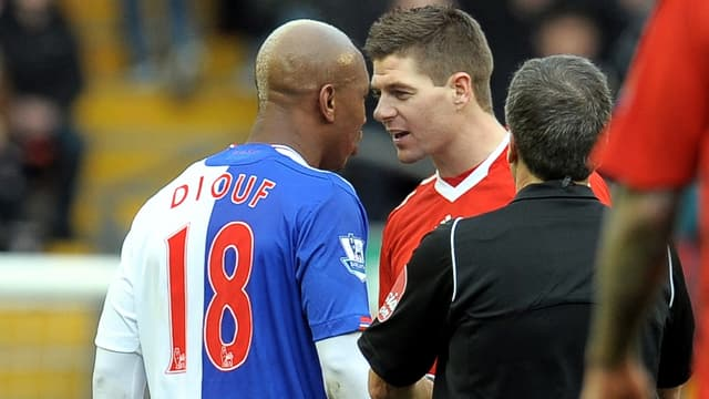 El-Hadji Diouf et Steven Gerrard