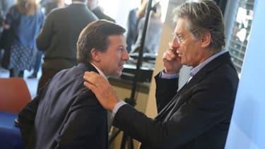 Les patrons de TF1 et M6 Gilles Pélisson et Nicolas de Tavernost
