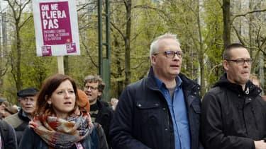 Une manifestation contre le racisme en hommage aux victimes des attentats à Bruxelles le 17 avril 2016